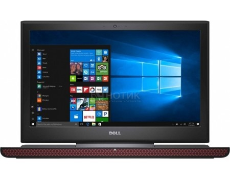 Ноутбук Dell Inspiron 7567 (15.6 LED/ Core i7 7700HQ 2800MHz/ 8192Mb/ Hybrid Drive 1000Gb/ NVIDIA GeForce® GTX 1050Ti 4096Mb) Linux OS [7567-8821]