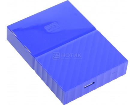 "Внешний жесткий диск Western Digital 1Tb WDBBEX0010BBL-EEUE My Passport 2.5"" USB 3.0, Синий"