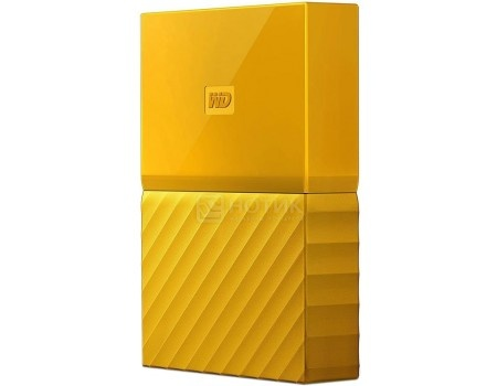 "Внешний жесткий диск Western Digital 1Tb WDBBEX0010BYL-EEUE My Passport 2.5"" USB 3.0, Желтый, арт: 51351 - Western Digital"