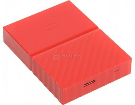 """Внешний жесткий диск Western Digital 4Tb WDBUAX0040BRD-EEUE My Passport 2.5"""" USB 3.0, Красный"""