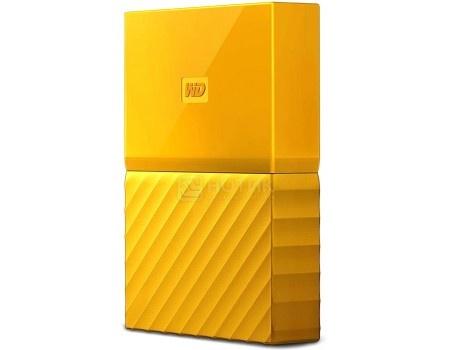 "Внешний жесткий диск Western Digital 4Tb WDBUAX0040BYL-EEUE My Passport 2.5"" USB 3.0, Желтый"
