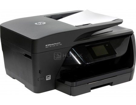 МФУ струйное цветное HP Officejet Pro 6970, A4 ,30/26 стр./мин, ADF, 1024Мб, USB, LAN, Wi-Fi, Факс, Черный J7K34A