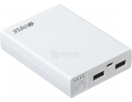Внешний аккумулятор HIPER PowerBank RP10000 White, 5V, 2.1A/1A, 2xUSB, 10000 мАч, Белый