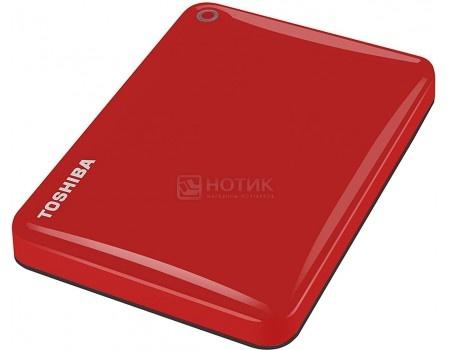 """Внешний жесткий диск Toshiba 2Tb HDTC820ER3CA Canvio Connect II 2.5"""" USB 3.0, Красный, арт: 51571 - Toshiba"""