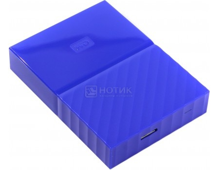 "Внешний жесткий диск Western Digital 3Tb WDBUAX0030BBL-EEUE My Passport 2.5"" USB 3.0, Синий"