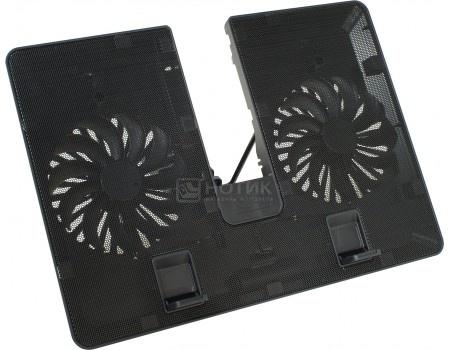 """Подставка для ноутбука 15,6"""" DeepCool U-PAL, 1xUSB 3.0, 2xВентилятора 140мм, Черный"""