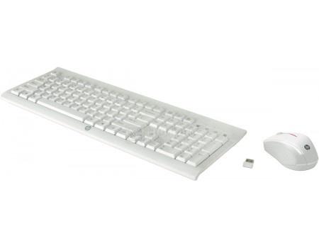 Фотография товара комплект беспроводной клавиатура+мышь HP C2710 Combo Keyboard, Белый M7P30AA (51757)