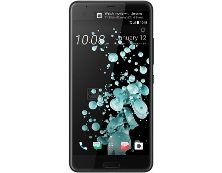 Смартфон HTC U Ultra Brilliant Black 128Gb (Android 7.0 (Nougat)/MSM8996 2150MHz/5.7