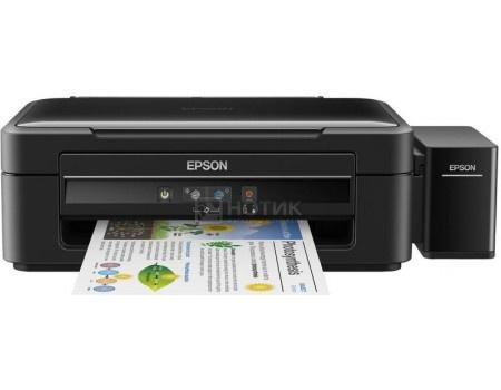 МФУ струйное цветное Epson L382, A4, 33/15 стр/мин, USB, Черный C11CF43401