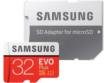 Карта памяти Samsung microSD 32GB EVO Plus UHS-I   SD адаптер MB-MC32GA/RU, арт: 51925 - Samsung