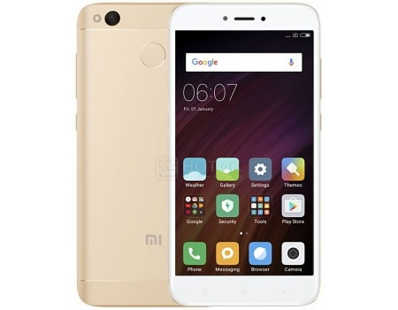 Смартфон Xiaomi Redmi 4X Gold (Android 6.0 (Marshmallow)/MSM8940 1400MHz/5.0 1280x720/2048Mb/16Gb/4G LTE ) [6954176833549] смартфон sony xperia x compact white android 6 0 marshmallow msm8956 1800mhz 4 6 1280x720 3072mb 32gb 4g lte [f5321white]