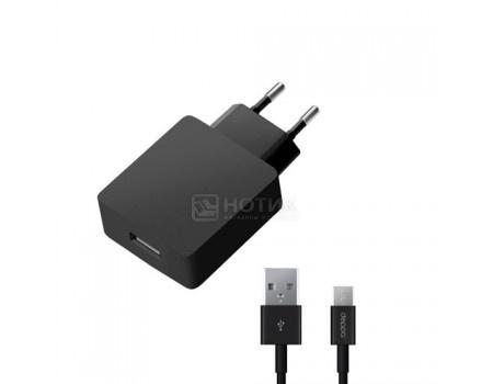 Фотография товара сетевое зарядное устройство Deppa Ultra 11375, USB/microUSB Quick Charge 2.0, Черный (51980)