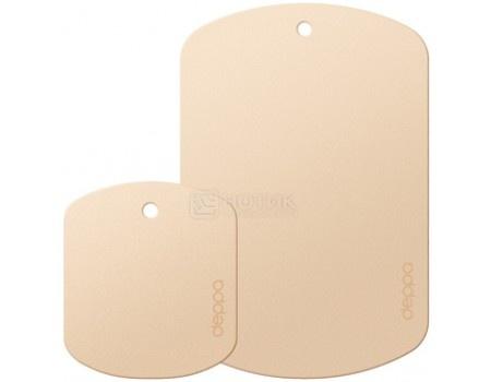 Набор пластин для магнитных держателей Deppa 55140 Crab Plates для смартфонов и планшетов весом до 300гр, магнитный, Золотистый