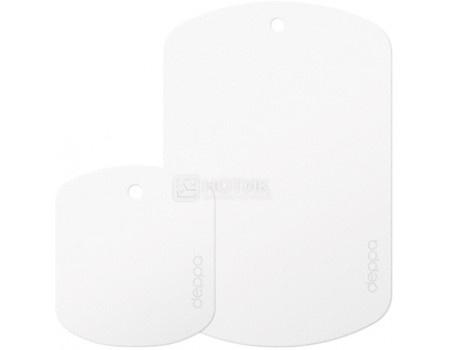 Набор пластин для магнитных держателей Deppa 55142 Crab Plates для смартфонов и планшетов весом до 300гр, магнитный, Белый