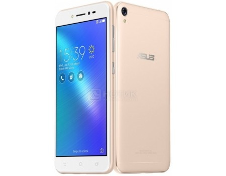 "Фотография товара смартфон ASUS Zenfone Live ZB501KL-4G005A Shimmer Gold (Android 6.0 (Marshmallow)/MSM8928 1400MHz/5.0"" 1280x720/2048Mb/32Gb/4G LTE ) [90AK0072-M00140] (52017)"