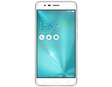 Смартфон Asus Zenfone 3 Zoom ZE553KL 64Gb Glacier Silver (Android 6.0 (Marshmallow)/MSM8953 2000MHz/5.5