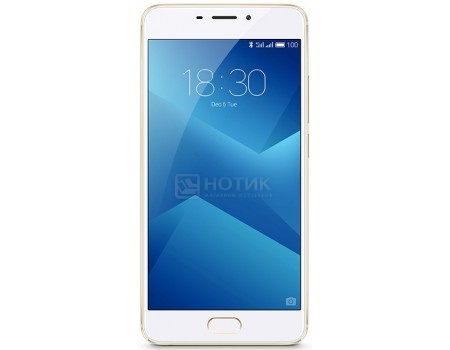 Смартфон Meizu M5 Note 16Gb Gold (Android 6.0 (Marshmallow)/MT6755 1800MHz/5.5 1920x1080/3072Mb/16Gb/4G LTE ) [M621H-16-G] смартфон meizu u20 16gb rose gold android 6 0 marshmallow mt6755 1800mhz 5 5 1920x1080 2048mb 16gb 4g lte [u685h 16 rgwh]