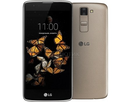 Смартфон LG K8 K350E DS Black Gold (Android 6.0 (Marshmallow)/MТ6735M 1300MHz/5.0
