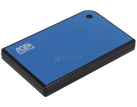 "Внешний бокс для 2.5"" HDD AgeStar 3UB2A14 USB 3.0, Синий"