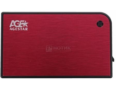 """Фотография товара внешний бокс для 2.5"""" HDD AgeStar 3UB2A14 USB 3.0, Красный (52173)"""