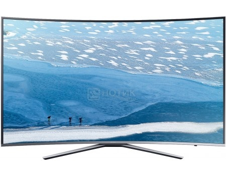 Телевизор Samsung 55 UE55KU6500U LED, UHD, Smart TV, CMR 1600, Изогнутый экран, Серебристый телевизор philips 49pus6501 60 uhd smarttv android tv серебристый