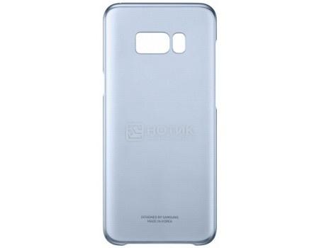 Чехол-накладка Samsung Clear Cover для Samsung Galaxy S8+ , Поликарбонат, Blue, Голубой/Прозрачный, EF-QG955CLEGRU