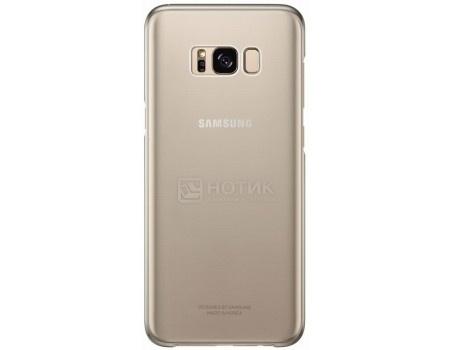 Чехол-накладка Samsung Clear Cover для Samsung Galaxy S8+ , Поликарбонат, Gold, Золотистый/Прозрачный, EF-QG955CFEGRU