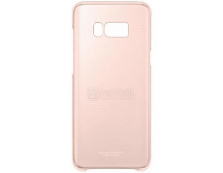 Чехол-накладка Samsung Clear Cover для Samsung Galaxy S8+ , Поликарбонат, Pink, Розовый/Прозрачный, EF-QG955CPEGRU