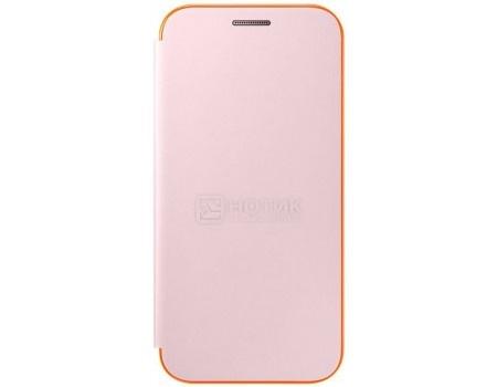 Чехол-книжка Samsung Neon Flip Cover для Samsung Galaxy A3 2017, Полиуретан/Поликарбонат, Pink, Розовый, EF-FA320PPEGRU