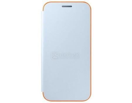 Чехол-книжка Samsung Neon Flip Cover для Samsung Galaxy A3 2017, Полиуретан/Поликарбонат, Blue, Синий, EF-FA320PLEGRU