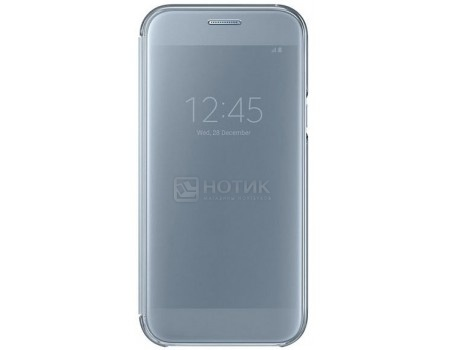 Чехол-книжка Samsung Clear View Cover для Samsung Galaxy A5 2017, Полиуретан/Поликарбонат, Blue, Голубой, EF-ZA520CLEGRU