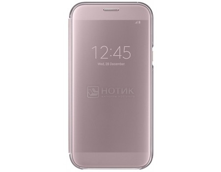 Чехол-книжка Samsung Clear View Cover для Samsung Galaxy A7 2017, Полиуретан/Поликарбонат, Pink, Розовый, EF-ZA720CPEGRU samsung ef za510czegru для galaxy a5 2016 clear view pink gold