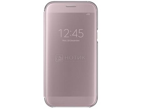 Чехол-книжка Samsung Clear View Cover для Samsung Galaxy A7 2017, Полиуретан/Поликарбонат, Pink, Розовый, EF-ZA720CPEGRU