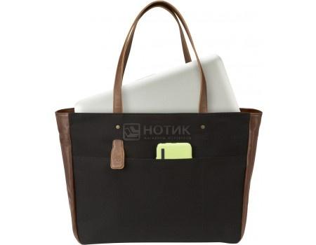 "Фотография товара сумка 14"" HP Ladies Black Tote, V1M56AA, Кожа, Черный (52333)"