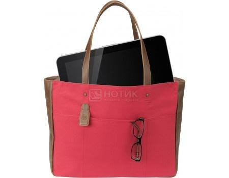 "Фотография товара сумка 14"" HP Ladies Red Tote, V1M57AA, Кожа, Красный (52334)"