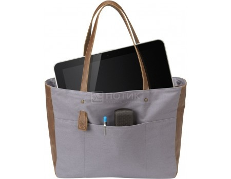 "Сумка 14"" HP Ladies Grey Tote, V1M58AA, Кожа, Серый"