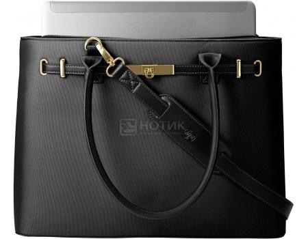 "Сумка 15,6"" HP Tan Prem Ladies Case Milano BLACK, T7B38AA, Кожа, Черный"