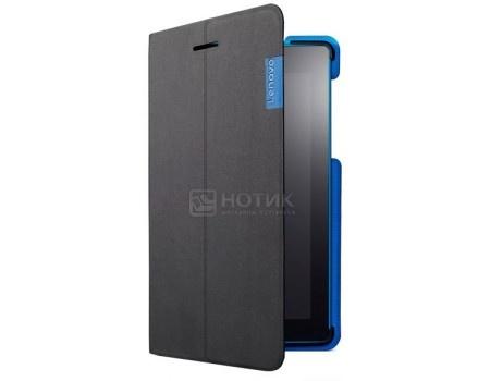Фотография товара чехол-книжка Lenovo Folio Case and Film для Lenovo TAB 3 TB3-730X, Полиуретан/Пластик, Black, Черный, ZG38C01046 (52370)