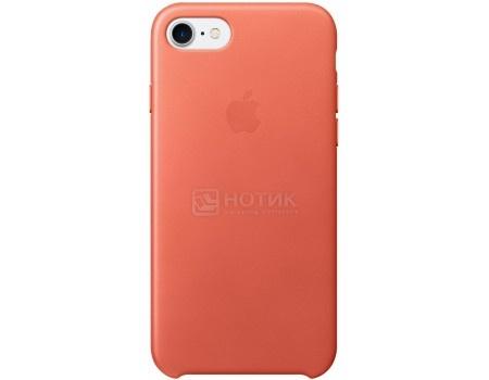 Чехол-накладка Apple Leather Case Geranium для iPhone 7 MQ5F2ZM/A, Кожа, Красный