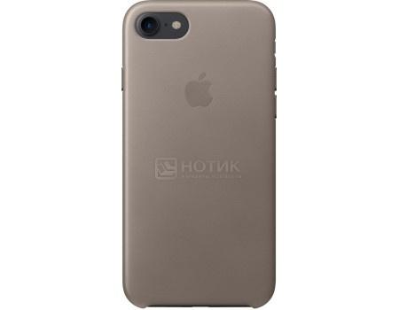 Чехол-накладка Apple Leather Case Taupe для iPhone 7 MPT62ZM/A, Кожа, Темно-серый