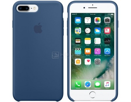 Чехол-накладка Apple Silicone Case Ocean Blue для iPhone 7 Plus MMQX2ZM/A, Силикон, Синий