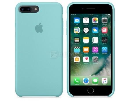 Подробнее о Чехол-накладка Apple Silicone Case Sea Blue для iPhone 7 Plus MMQY2ZM/A, Силикон, Бледно-голубой чехол клип кейс apple mmqy2zm a для apple iphone 7 plus голубой