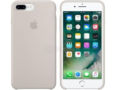 Чехол-накладка Apple Silicone Case Stone для iPhone 7 Plus MMQW2ZM/A, Силикон, Светло-серый