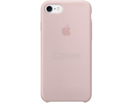 Чехол-накладка Apple Silicone Case Pink Sand для iPhone 7 MMX12ZM/A, Силикон, Бледно-розовый