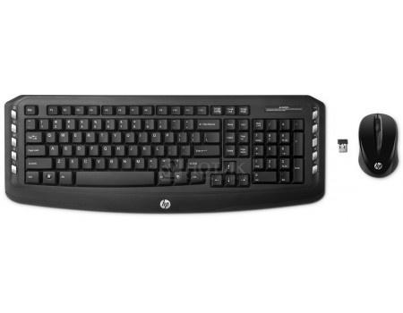 Фотография товара комплект беспроводной клавиатура+мышь HP Wireless Classic, Черный LV290AA (52580)
