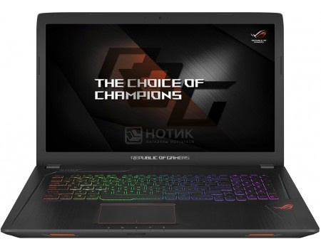 Ноутбук ASUS ROG GL753VD-GC144 (17.3 IPS (LED)/ Core i5 7300HQ 2500MHz/ 8192Mb/ HDD 1000Gb/ NVIDIA GeForce® GTX 1050 4096Mb) Endless OS [90NB0DM2-M02110]