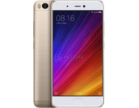 Смартфон Xiaomi Mi 5S 64Gb Gold (Android 6.0 (Marshmallow)/MSM8996 2150MHz/5.1 1920x1080/3072Mb/64Gb/4G LTE ) [MI5S64GBGL] смартфон sony xperia x dual lime gold android 6 0 marshmallow msm8956 1800mhz 5 0 1920x1080 3072mb 64gb 4g lte [f5122lime gold]