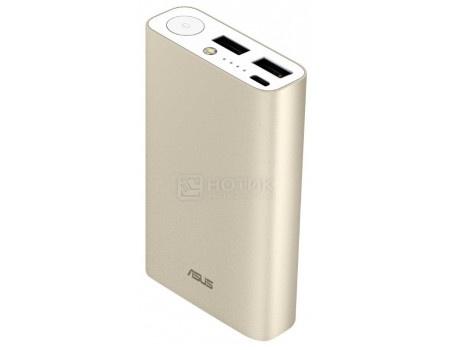 Внешний аккумулятор Asus ZenPower Duo 10050 мАч, 5V/2.0А  micro USB, 2xUSB 5V/2.4А Золотистый 90AC0180-BBT018