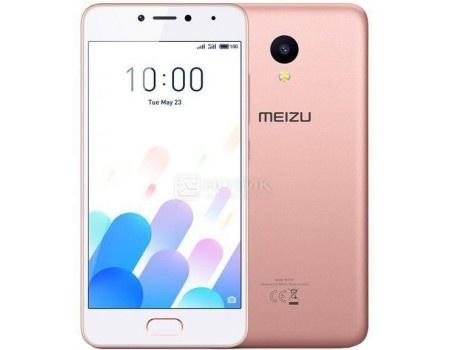Смартфон Meizu M5c 16Gb Rose Gold / Pink (Android 7.0 (Nougat)/MT6737 1300MHz/5.0 1280x720/2048Mb/16Gb/4G LTE ) [M710H-16-RGPK] смартфон meizu u20 16gb rose gold android 6 0 marshmallow mt6755 1800mhz 5 5 1920x1080 2048mb 16gb 4g lte [u685h 16 rgwh]
