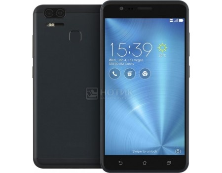 Смартфон Asus Zenfone 3 Zoom ZE553KL 64Gb Navy Black (Android 6.0 (Marshmallow)/MSM8953 2000MHz/5.5* 1920x1080/4096Mb/64Gb/4G LTE ) [90AZ01H3-M00690], арт: 52996 - ASUS